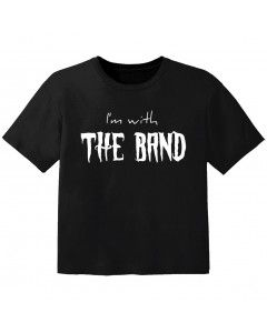 T-shirt Bambino Rock I'm with the band