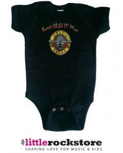 Guns and Roses Baby Grow Bullet Sweet Child of Mine