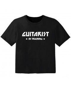 rock baby t-shirt guitarist in training