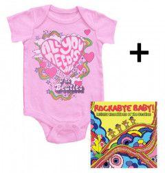 Idea regalo body bebè rock bambino Beatles All You Need Is Love & Rockabye Baby The Beatles