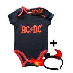 AC/DC baby romper Devil Horns