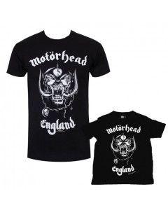 Set Rock duo t-shirt pour papa Motörhead & t-shirt Enfant