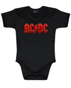 Body Bébé AC/DC AC/DC Logo Colour é METAL body Bébés