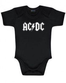 body bebè rock bambino AC/DC White Logo