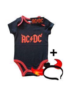 AC/DC Devil Horns baby romper