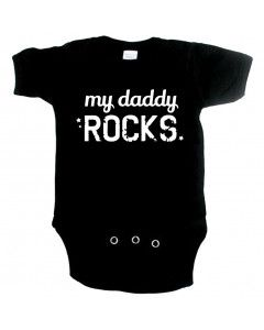 Cool babygrow my daddy rocks