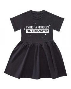 I'm not a princess I'm a rockstar Robe Bébé