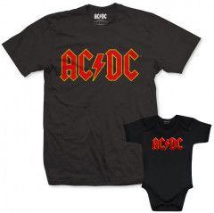 Duo Rockset t-shirt per papà AC/DC e Body Bebè AC/DC