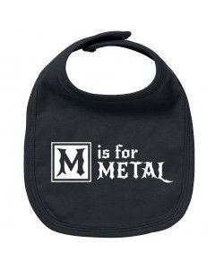 Bavoir Metal Bébé M is for Metal