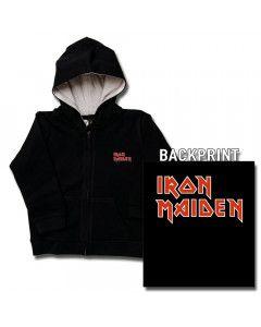 Maglia per bambini con cerniera/cappuccio Iron Maiden Logo (print on demand)