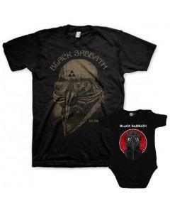 Duo Rockset t-shirt per papà Black Sabbath e Body bebè Black Sabbath