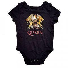 queen crest baby onesie rock