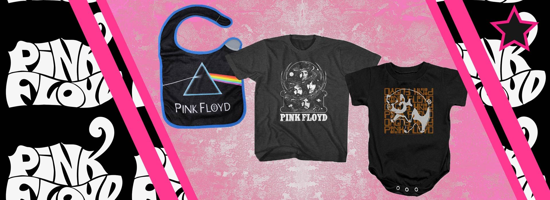 Pink Floyd kids and baby clothes.