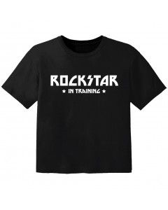 T-shirt Bambino Rock rockstar in training