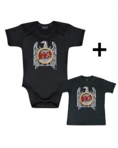 Idea regalo Body bebè Slayer Silver Eagle & Slayer t-shirt bebè