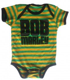 body bebè rock bambino Bob Marley Baby Jamaica Stripe