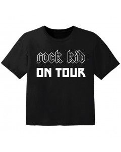 T-shirt Bambino Rock rock kid on tour