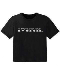 T-shirt Bambini Cool I love vinyl