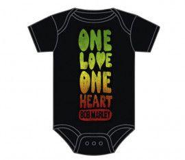 body bebè rock bambino Bob Marley One Love One Heart