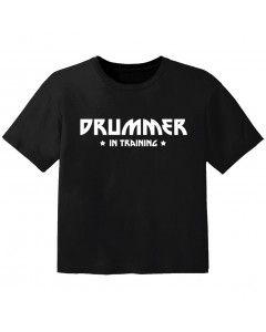 T-shirt Bambino Rock drummer in training