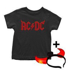 AC/DC T-shirt til børn   Devil Horns