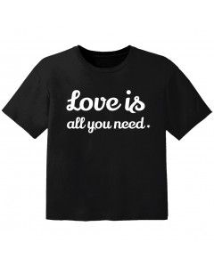 stoere kinder t-shirt love is all you need