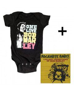 Baby rock giftset Bob Marley Baby Grow Smile & CD