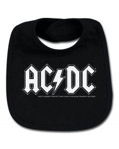 AC/DC Bavoir Rock Bébé Logo white