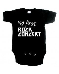 Rock babygrow my first rock concert