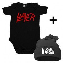 Idea regalo Body bebè Slayer & Loud & Proud Cappello
