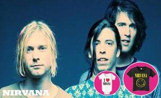 Nirvana abbigliamento bebè rock