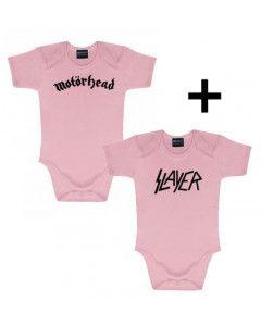 Idea regalo Body bebè Motörhead & Body bebè Slayer Pink