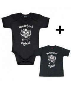Set Cadeau Motörhead body Bébé England & Motörhead T-shirt Bébé England