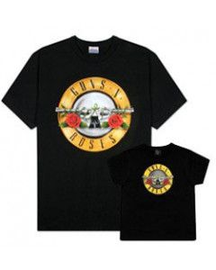 Set Rock duo t-shirt pour papa Guns 'n Roses & t-shirt Enfant