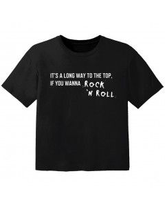 rock baby t-shirt its a long way to the top if you wanna rock 'n' roll