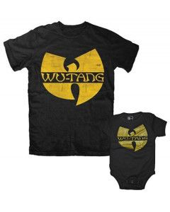 Set Rock duo t-shirt pour papa Wu-Tang Clan & Wu-Tang Clan body Bébé