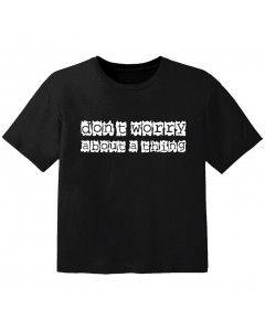 T-shirt Bébé Rock don't worry about a thing