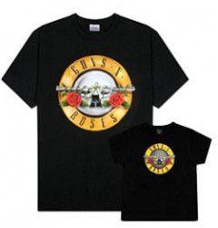 Set Rock duo t-shirt pour papa Guns 'n Roses & t-shirt Bebe