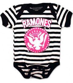 body bebè rock bambino Ramones Pinned