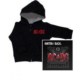 Maglia per bambini con cerniera/cappuccio AC/DC Black Ice