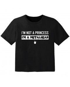 metal kids t-shirt I'm not a princess I'm a metalhead