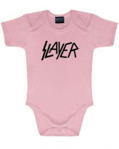 Slayer Baby Grow Logo Pink