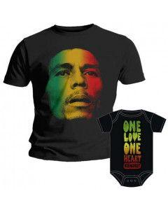 Duo Rockset t-shirt per papà Bob Marley e Body bebè Bob Marley