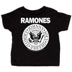 Ramones T-shirt til baby   Full White
