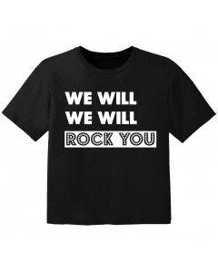 T-shirt Bambino Rock we will we will rock you