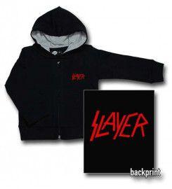 Maglia bebè con cerniera/cappuccio Slayer Logo Red (Print On Demand)